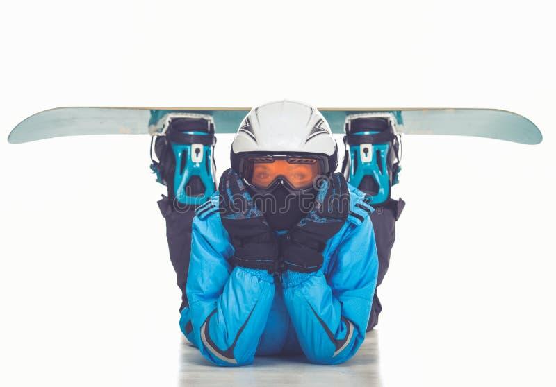 Zima sport, dziewczyna zdjęcie royalty free