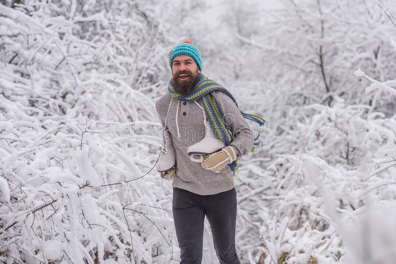 Zima sport i odpoczynek, boże narodzenia zdjęcie royalty free