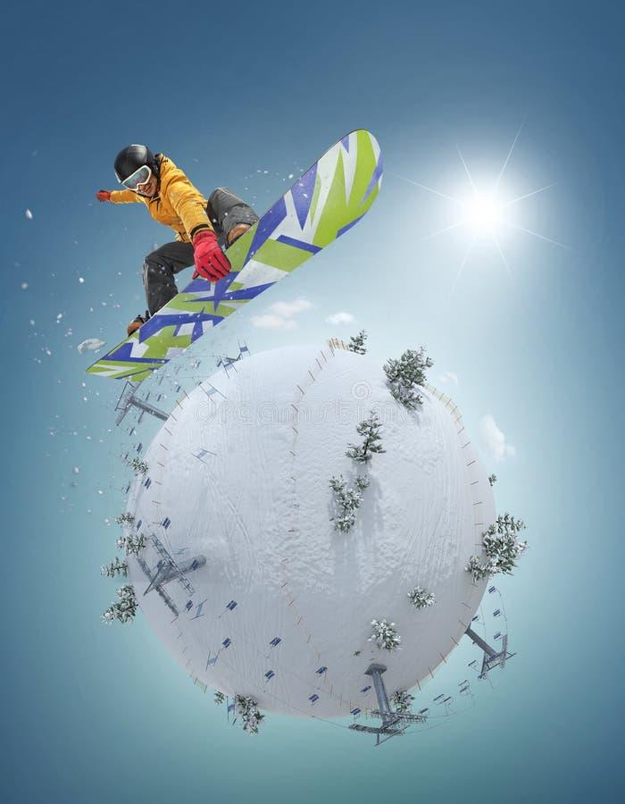 Zima sporta pojęcie tło płatków śniegu biały niebieska zima ilustracja wektor