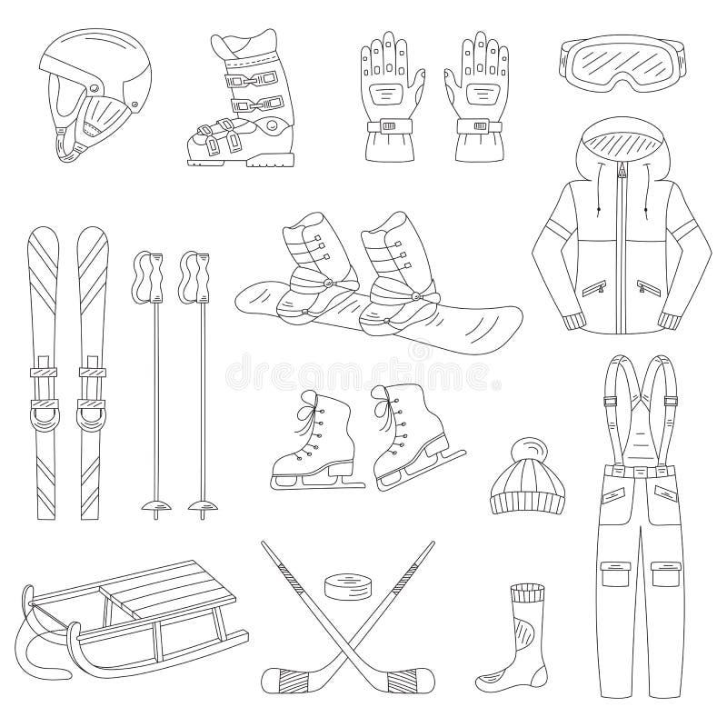 Zima sporty inkasowi ilustracji