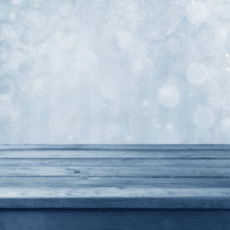 Zima stonowany bokeh tło fotografia royalty free