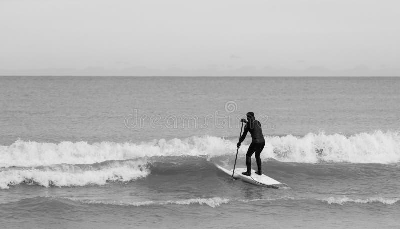 Zima surfing obraz stock