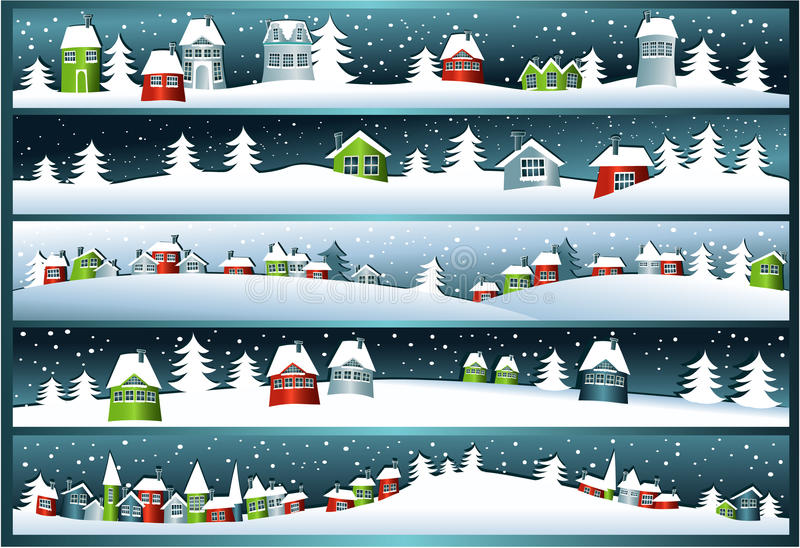 Zima sztandary ilustracja wektor
