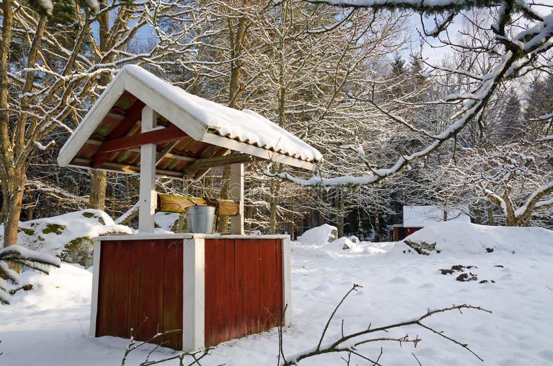 Zima szwedzi well zdjęcie royalty free