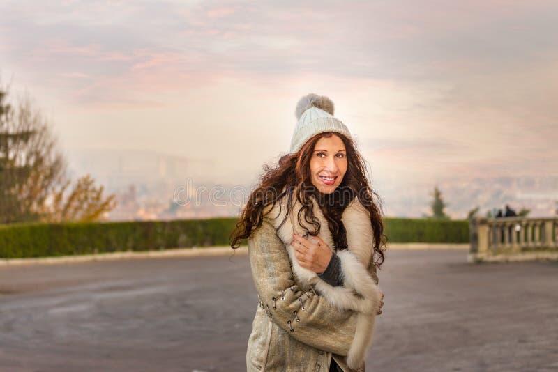 zima ubraniowa kobieta obrazy stock