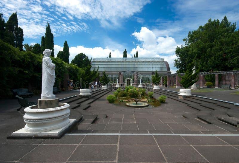 Zima Uprawia ogródek Glasshouse zdjęcia royalty free