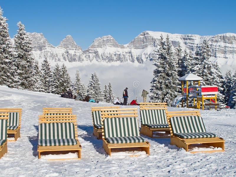 Zima w alps obraz royalty free