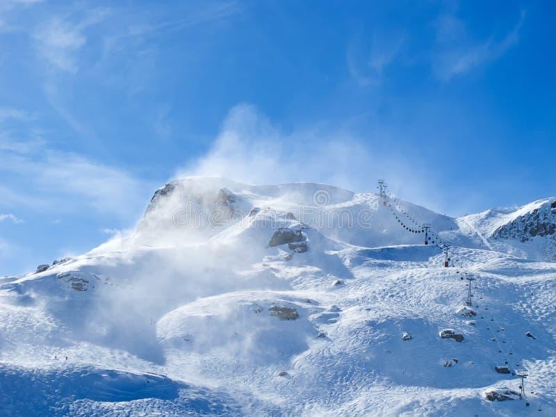 Zima w alps zdjęcia stock