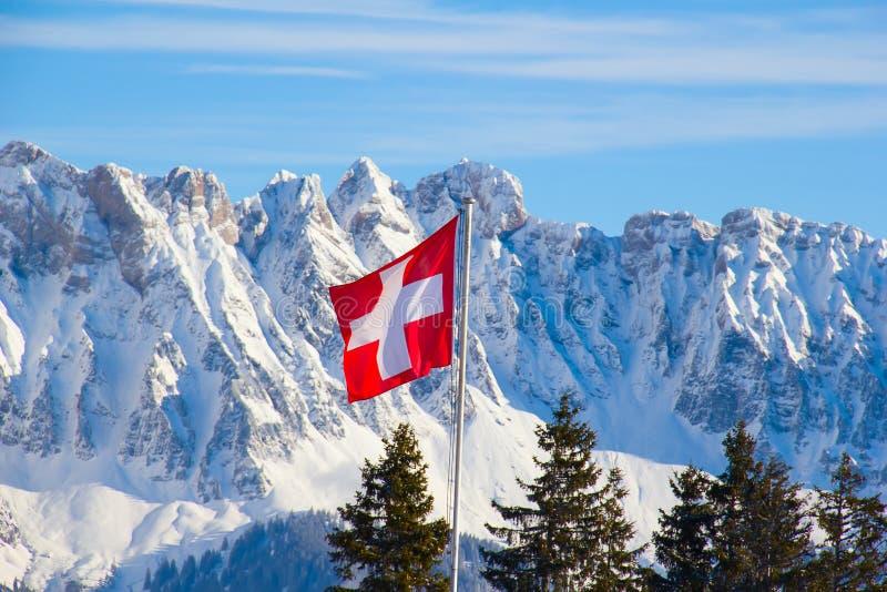 Zima w alps fotografia stock