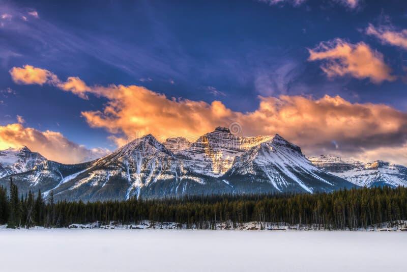 Zima w Banff parku narodowym zdjęcie royalty free