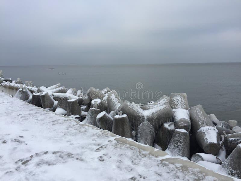 Zima w Darlowo obraz stock