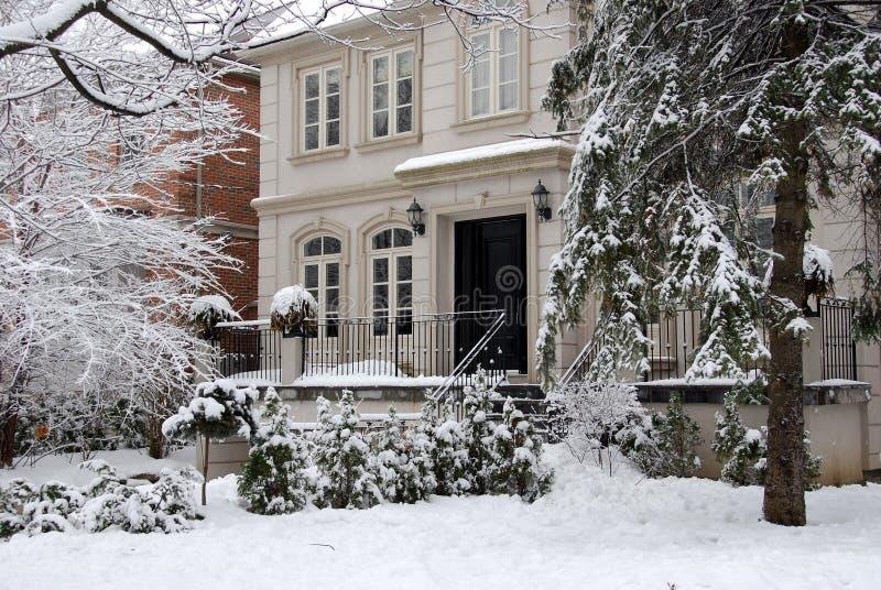 zima w domu obraz stock