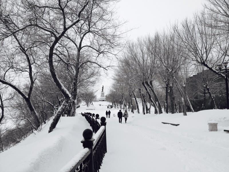 Zima w Khabarovsk zdjęcia stock