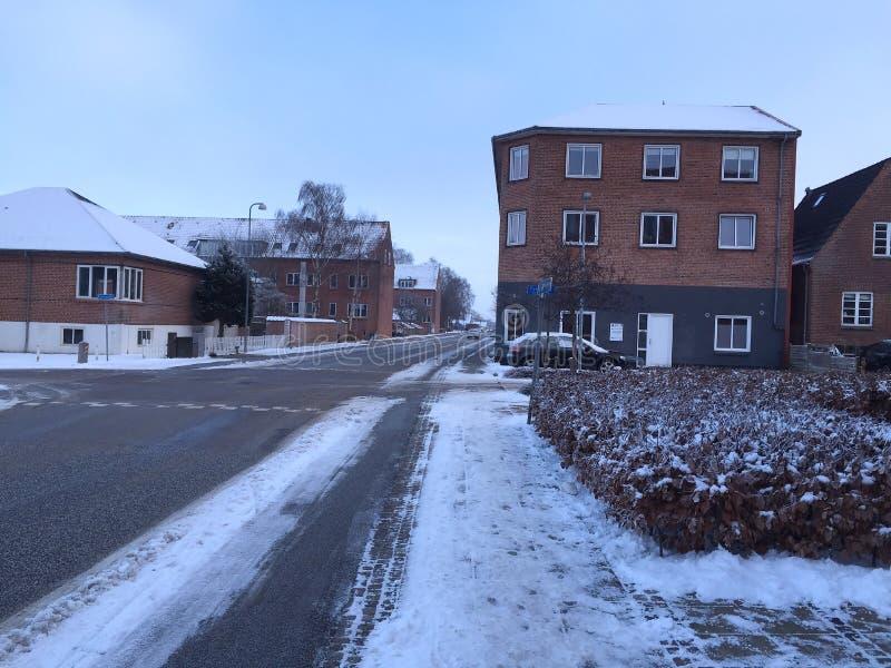 Zima w mieście Herning, Dani zdjęcie royalty free