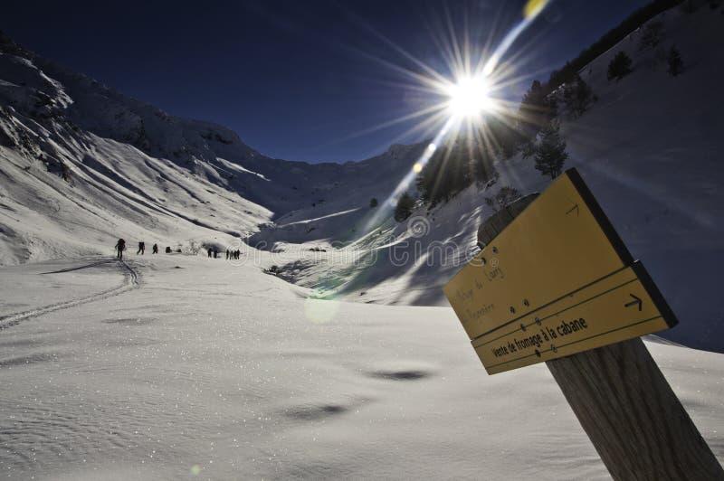 Zima w Pyrenees zdjęcia stock