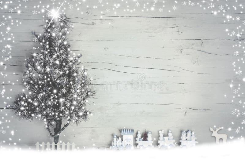 Zima wakacje tło z światłami obraz royalty free