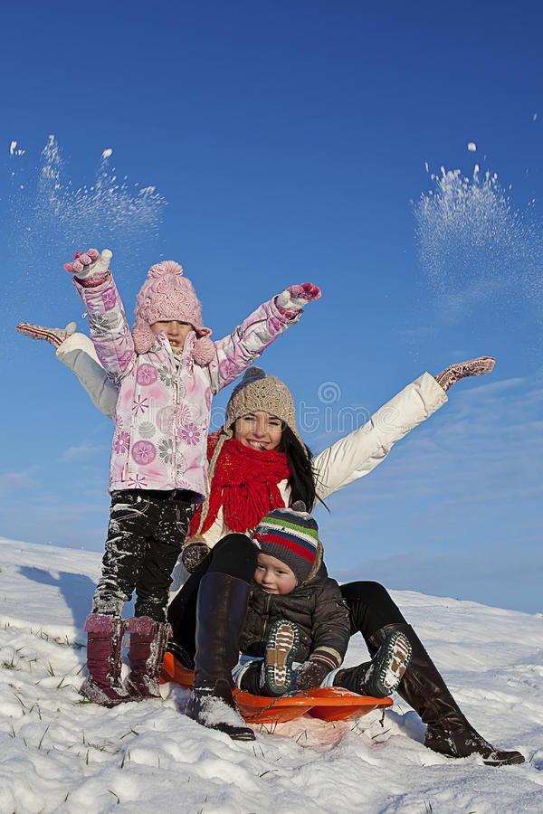 Zima wakacje zabawa obrazy royalty free