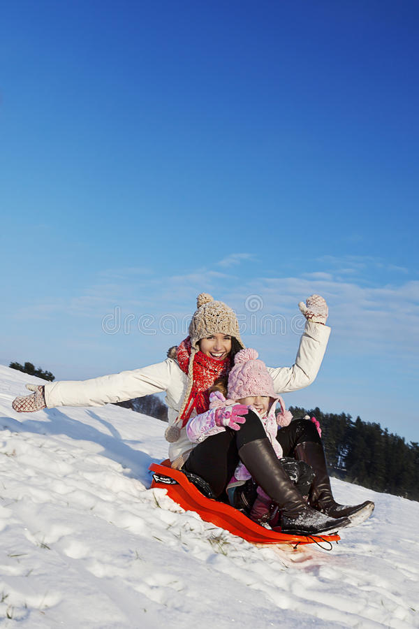 Zima wakacje zabawa fotografia royalty free