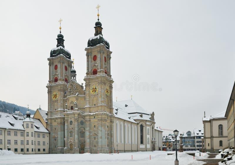 Zima widok St Gallen obraz stock
