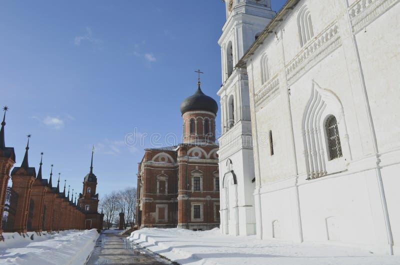 Zima widok Volokolamsk Moskwa Kremlowski region obraz stock