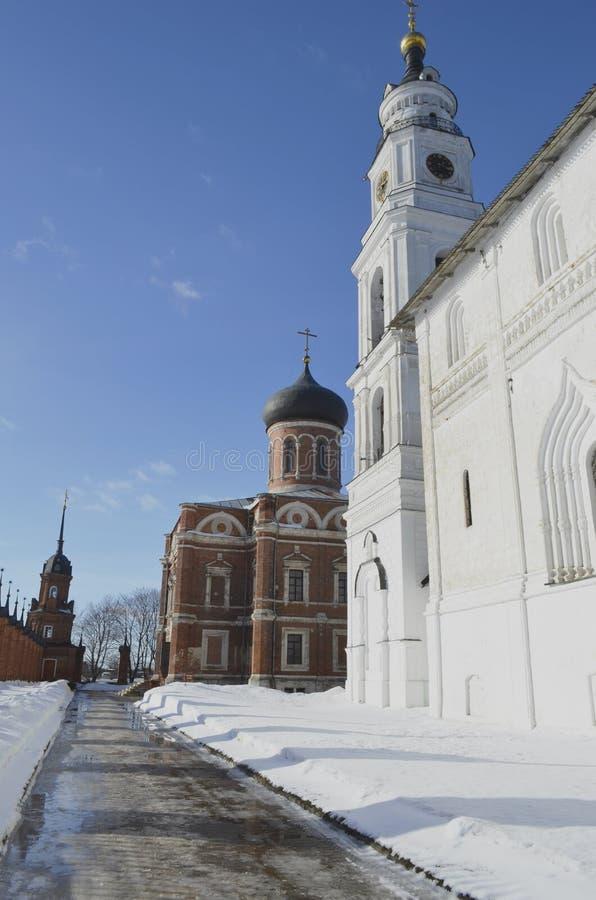 Zima widok Volokolamsk Moskwa Kremlowski region fotografia stock