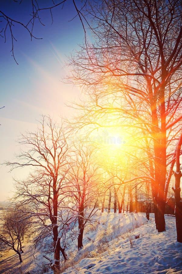 Zima widoku instagram przełaz obraz royalty free