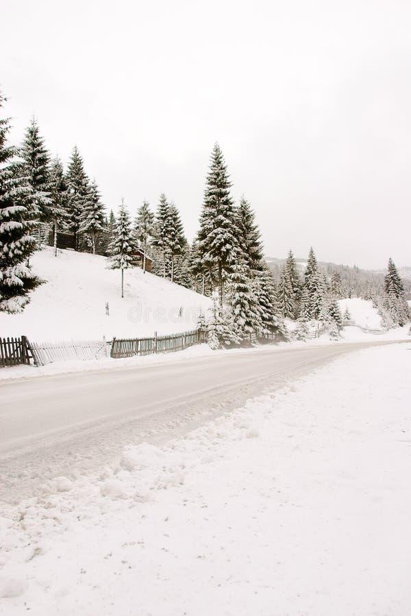 zima wiejskiej fotografia stock