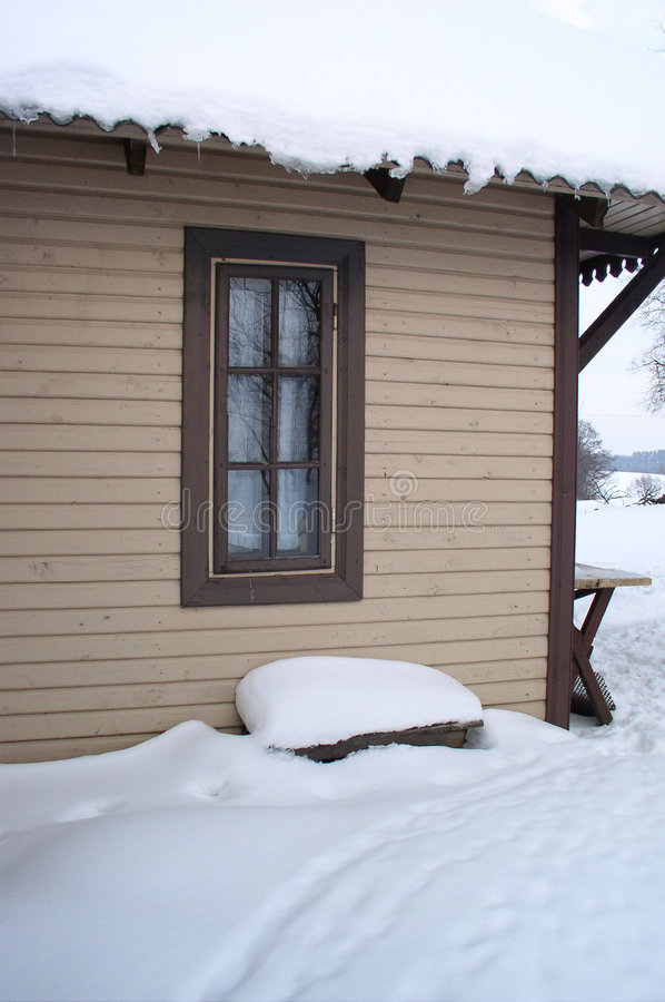 zima wioski. zdjęcie stock