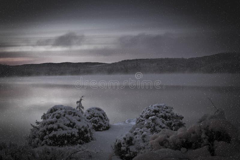 Zima wschód słońca zdjęcie stock