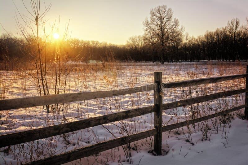 Zima wschód słońca obraz stock