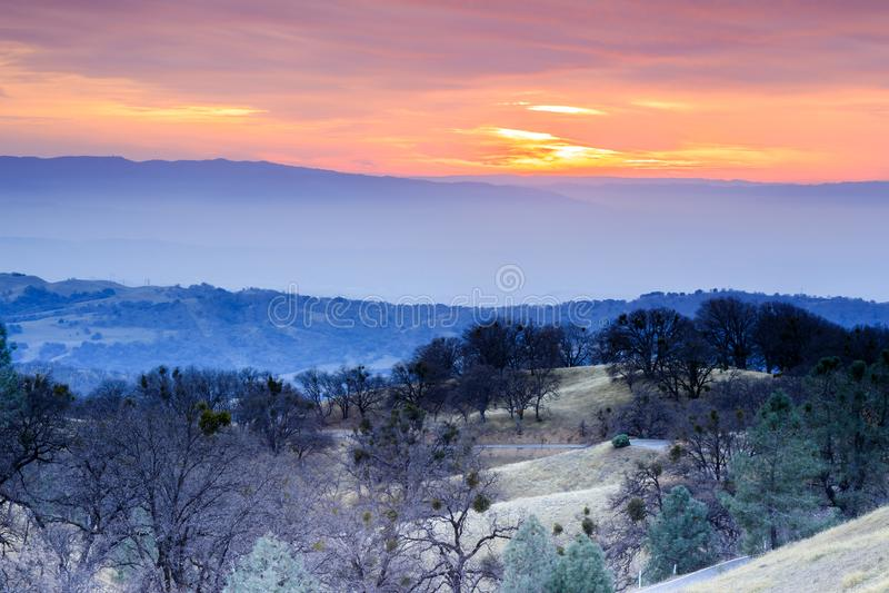 Zima zmierzchu widoki od góry Hamilton obrazy stock