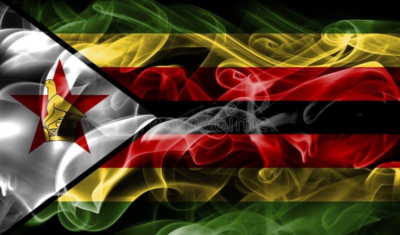 Zimbabwe dymu flaga zdjęcia stock