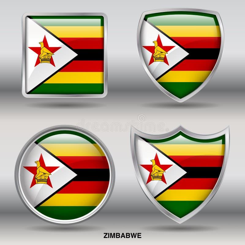 Zimbabwe Flag royalty free stock photography