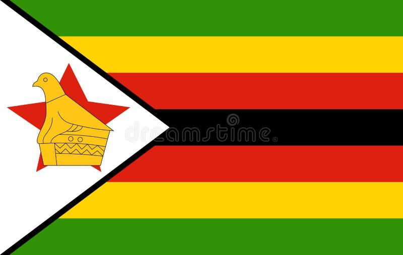 Zimbabwe flaga ilustracja wektor