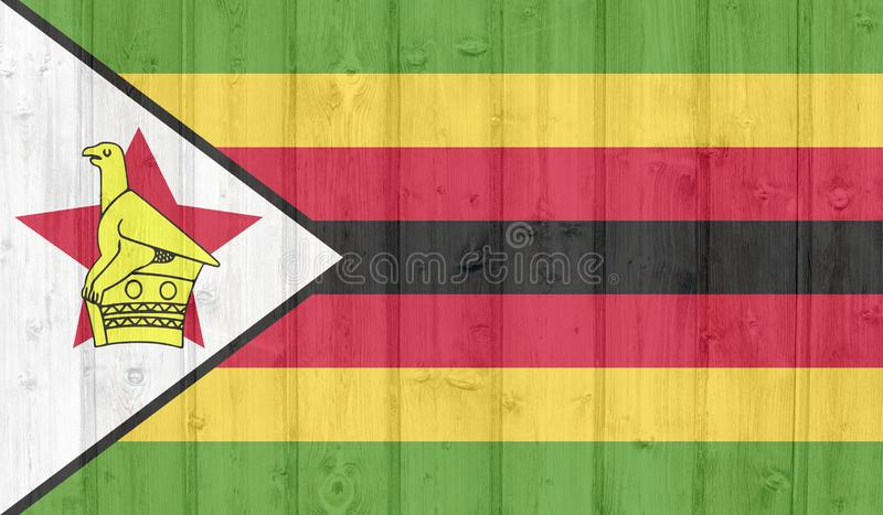 Zimbabwe flagga stock illustrationer
