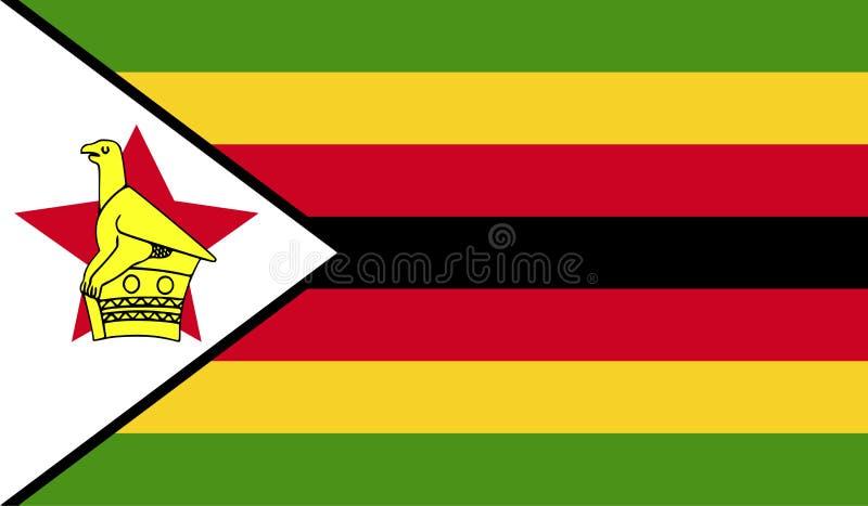 Zimbabwe flaggabild royaltyfri illustrationer