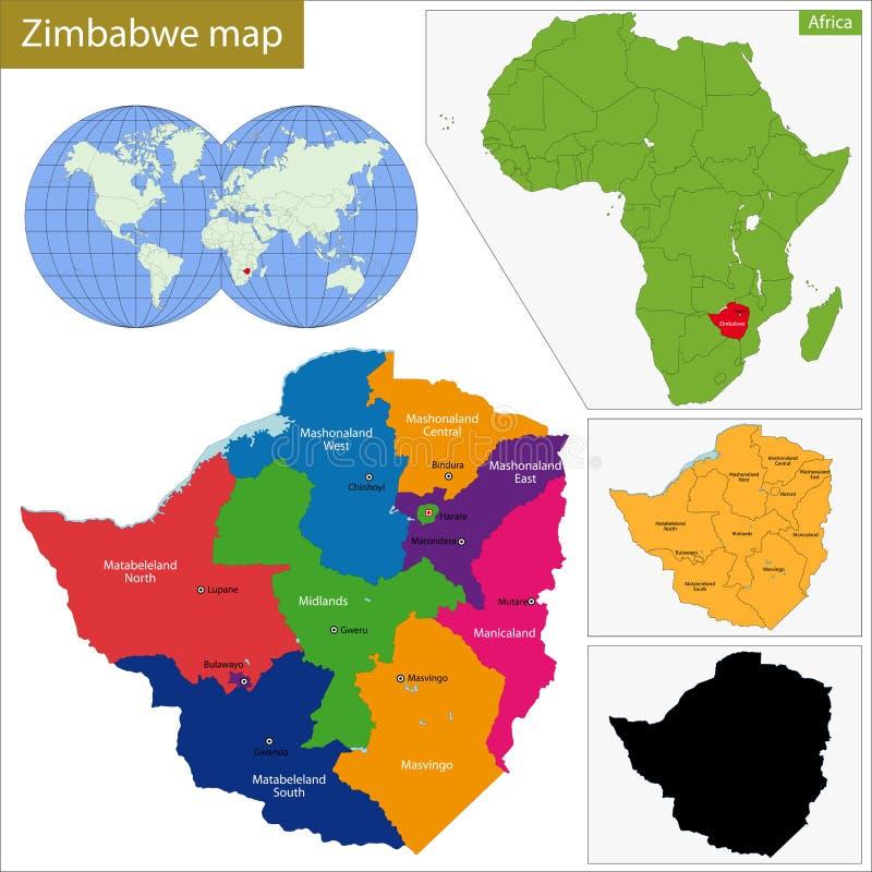 Zimbabwe map stock vector Illustration of province atlas 49294006