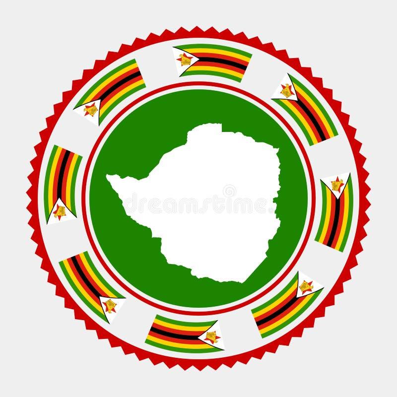 Zimbabwe mieszkania znaczek ilustracji