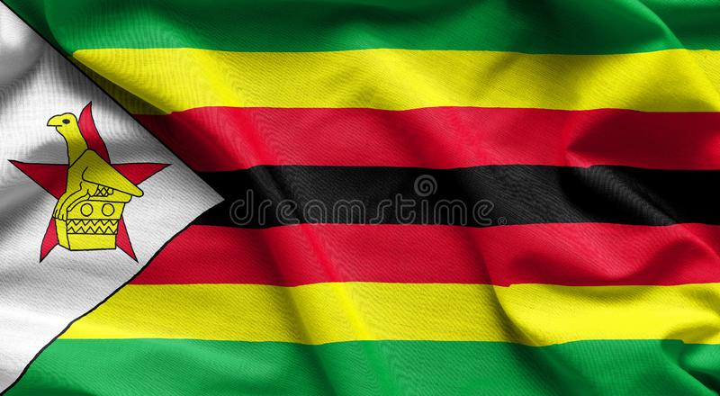 Zimbabwe waving flag vector illustration