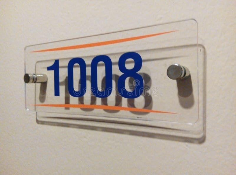 Zimmernummer lizenzfreie stockfotografie