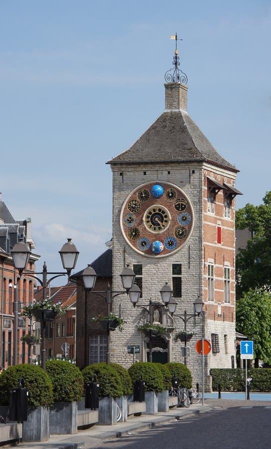 Zimmertoren met Jubileumklok in Lier, België stock afbeelding