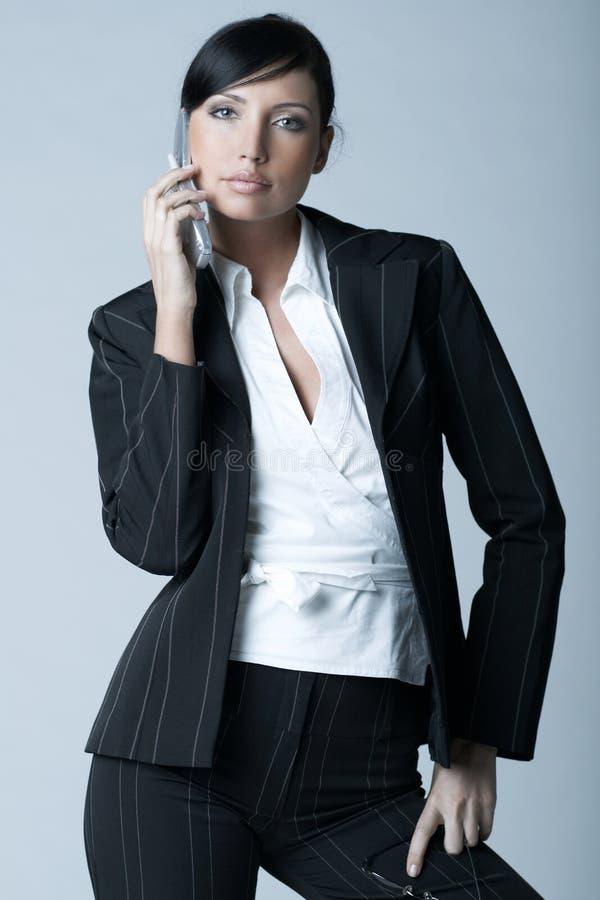 zimna bizneswomanu ver zdjęcie stock