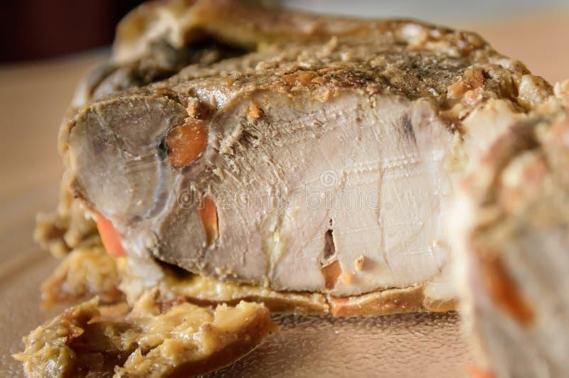 zimna gotowanej wieprzowina zdjęcie stock