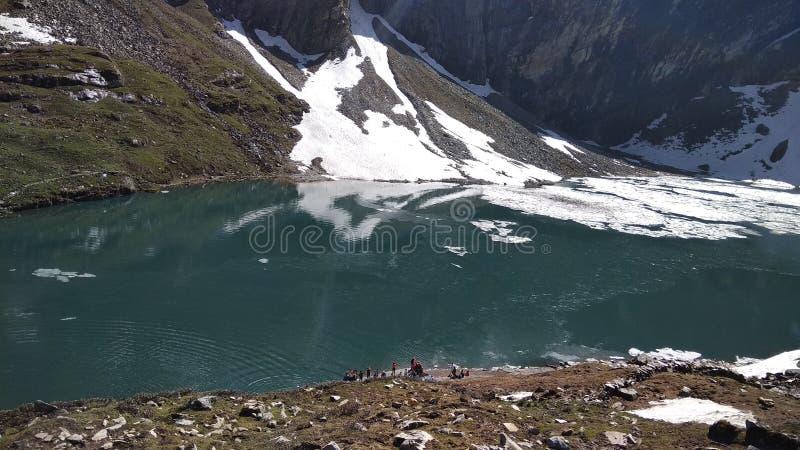 Zimna jezioro woda obraz royalty free