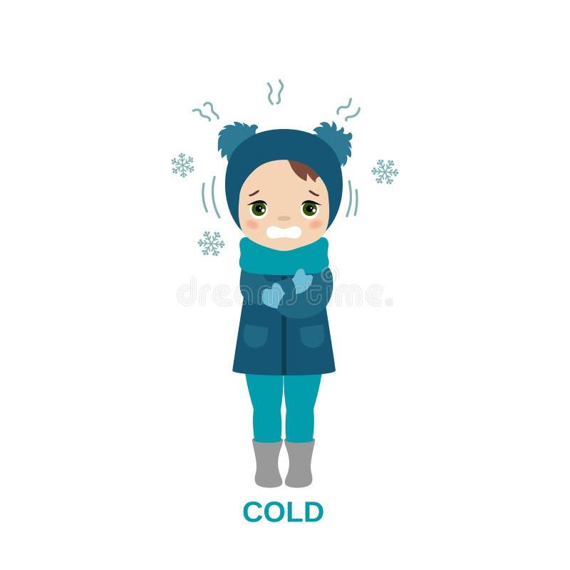 zimna pogoda dziewczyny ilustracji