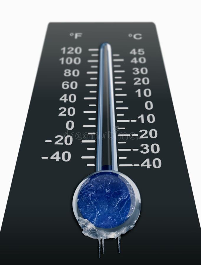 zimna temperatura zamarzania royalty ilustracja