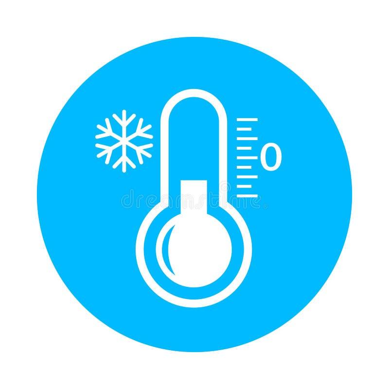Zimna wektorowa ikona ilustracji