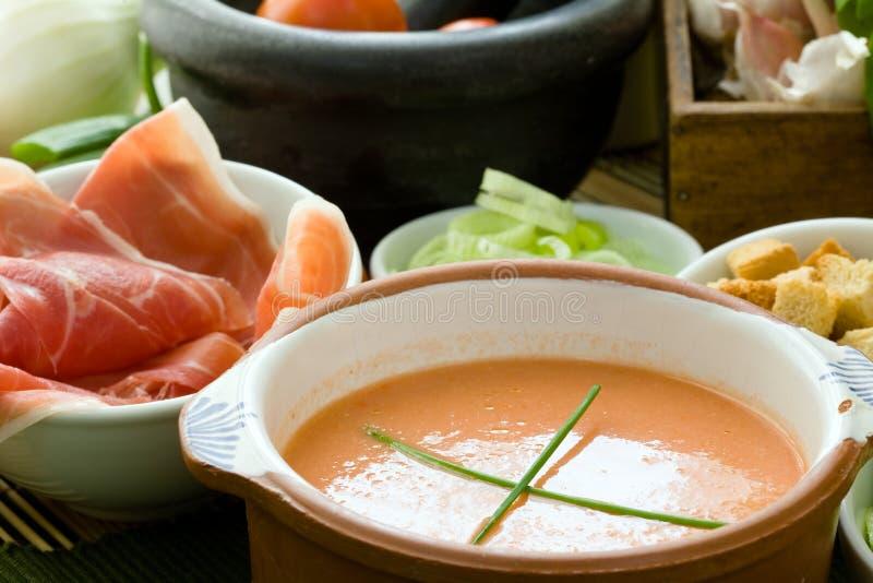 zimna zupa fotografia stock
