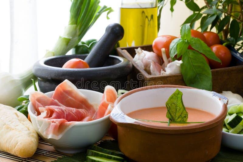 zimna zupa zdjęcie stock