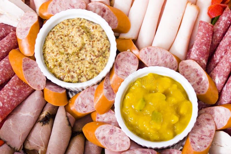 zimne mięso gastronomicznych platter fotografia stock